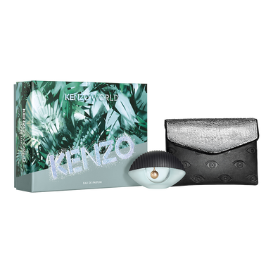KENZO WORLD EAU DE PARFUM 50ML + FASHION POUCH SET