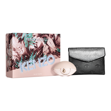 KENZO WORLD EAU DE TOILETTE 50ML + FASHION POUCH SET