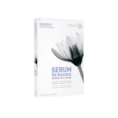 KENZOKI WHITE LOTUS-Serum in a mask